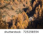 scenic mountain fall landscape... | Shutterstock . vector #725258554