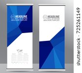 roll up business brochure flyer ... | Shutterstock .eps vector #725261149