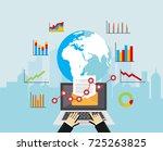email marketing. global market...   Shutterstock .eps vector #725263825