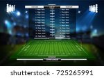 vector of american football... | Shutterstock .eps vector #725265991