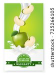 apple juice label vector visual ... | Shutterstock .eps vector #725266105