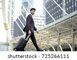middle east business man with... | Shutterstock . vector #725266111