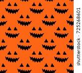 halloween pumpkin seamless... | Shutterstock .eps vector #725268601