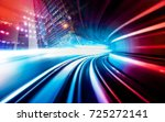 abstract motion speed railway... | Shutterstock . vector #725272141