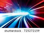 abstract motion speed railway... | Shutterstock . vector #725272159