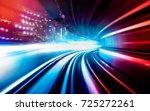 abstract motion speed railway... | Shutterstock . vector #725272261