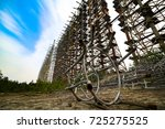 chernobyl exclusion zone....   Shutterstock . vector #725275525