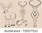 deer in line on vector   Shutterstock .eps vector #725277211