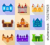 types of stronghold icons set.... | Shutterstock . vector #725278525