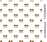 two storey house pattern...   Shutterstock . vector #725280499