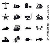 16 vector icon set   lighthouse ... | Shutterstock .eps vector #725282701