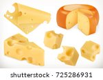 cheese. 3d vector icon set | Shutterstock .eps vector #725286931