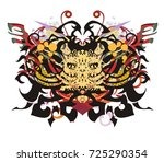 awful grunge butterfly.... | Shutterstock .eps vector #725290354