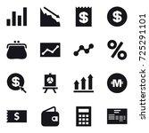 16 vector icon set   graph ...   Shutterstock .eps vector #725291101