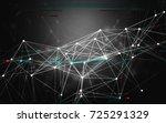 abstract glitch polygonal data... | Shutterstock . vector #725291329
