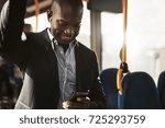young african businessman...   Shutterstock . vector #725293759