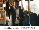 young african businessman... | Shutterstock . vector #725293771