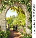 Stone Arch With Flowers ....