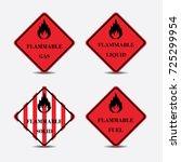 sign flammable liquid gas solid ... | Shutterstock .eps vector #725299954