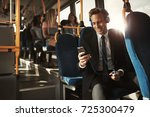 smiling young businessman...   Shutterstock . vector #725300479