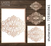 laser cut wedding invitation... | Shutterstock .eps vector #725301061