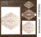 laser cut wedding invitation... | Shutterstock .eps vector #725301061