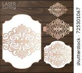 laser cut wedding invitation... | Shutterstock .eps vector #725301067
