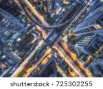 road traffic in city at... | Shutterstock . vector #725302255