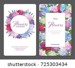 colorful hydrangea flower and... | Shutterstock .eps vector #725303434
