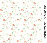 modern seamless pattern with... | Shutterstock .eps vector #725305504