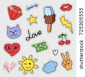 patch badges set. stickers ... | Shutterstock . vector #725305555