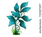 blue shrub  bush. magic vector... | Shutterstock .eps vector #725307097