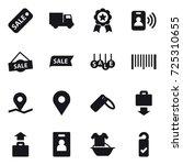 16 vector icon set   sale ...   Shutterstock .eps vector #725310655