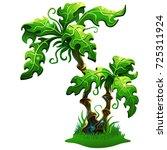 palm tree. magic vector tree... | Shutterstock .eps vector #725311924