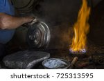 Small photo of Traditional Turkish tinsmith / coppersmith working