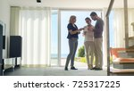 professional real estate agent... | Shutterstock . vector #725317225