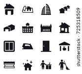 16 vector icon set   home ... | Shutterstock .eps vector #725318509
