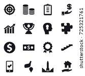 16 vector icon set   target ... | Shutterstock .eps vector #725321761