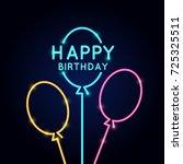 happy birthday  minimalistic... | Shutterstock .eps vector #725325511