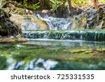 waterfal hot spring in the... | Shutterstock . vector #725331535