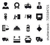 16 vector icon set   woman ... | Shutterstock .eps vector #725334721