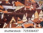 roofs of cesky krumlov | Shutterstock . vector #725336437