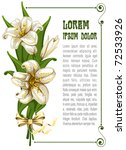 wonderful bouquet with lilies... | Shutterstock .eps vector #72533926