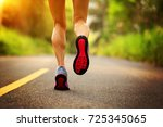 young fitness woman runner... | Shutterstock . vector #725345065