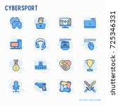 cybersport thin line icons set  ... | Shutterstock .eps vector #725346331