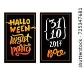 halloween poster. vector... | Shutterstock .eps vector #725347681