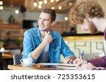 young specialist planning work... | Shutterstock . vector #725353615