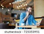 jobless guy looking for... | Shutterstock . vector #725353951