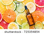 citrus fruit vitamin c serum... | Shutterstock . vector #725354854