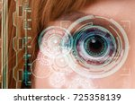 woman being futuristic vision... | Shutterstock . vector #725358139